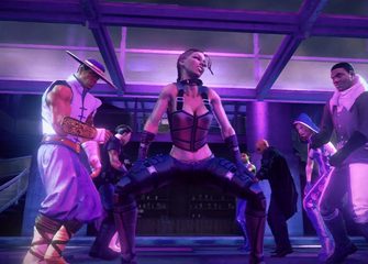 Shaundi - start of dance in closing cutscene of Grand Finale Part Four