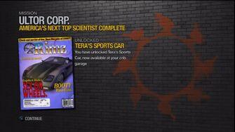 Tera's sports car unlock