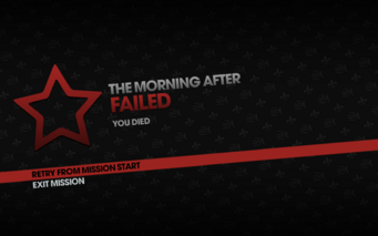 The Morning After fail screen