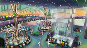 Poseidon's Palace Concept Art - Saints Row 2 coloured interior