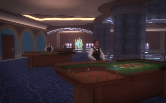 Poseidon's Palace interior - Roulette tables