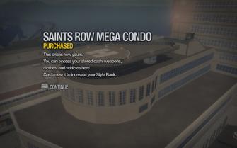 Saints Row Mega Condo purchased