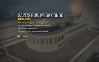 Saints Row Mega Condo purchased