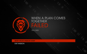 When a Plan Comes Together fail screen