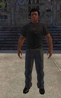 Bouncer - Black tshirt - character model in Saints Row