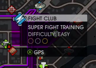Fight Club name on map in Saints Row IV livestream