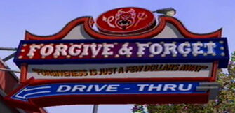 Forgive and Forget Saints Row Sign