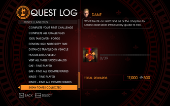 Gat out of Hell Challenge - Satan Tomes Collected