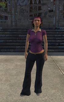 Los Carnales Mayhem girl - character model in Saints Row