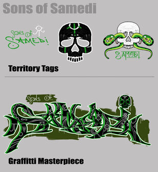 The Sons of Samedi Territory Tags and Graffitti