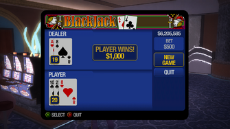 Blackjack - Player wins