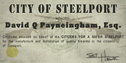 Credits - Mayor Certificate - David Q Payneingham