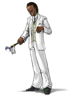 Mr. Sunshine Concept Art 02 - Natural Skin & White Suit