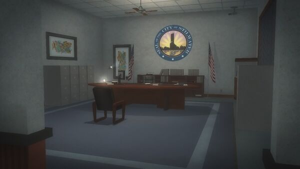 Police Headquarters - Troy's office