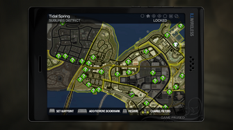 Secret Area - Suburbs waste water vents on map