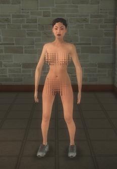 Streaker - FUZZ Shaggin Female - character model in Saints Row 2