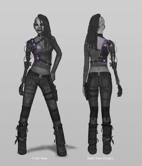 Future Shaundi Concept Art - 2 versions