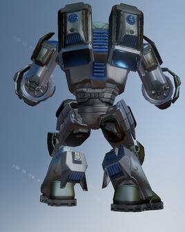 Mech suit character model - rear in Saints Row IV