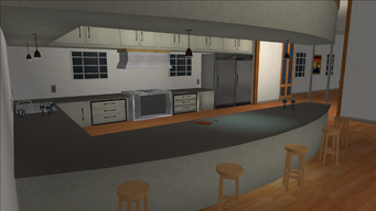 Price Mansion - kitchen and bar