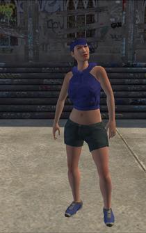 Westside Rollerz female Thug1-04 - asian - character model in Saints Row
