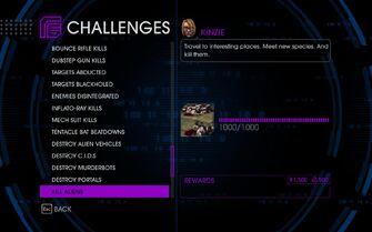 Challenge 57 Kill Aliens
