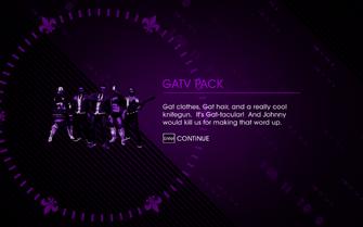 Saints Row IV - GatV Pack unlock screen