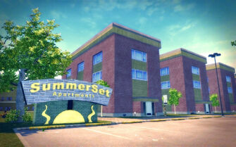Sommerset in Saints Row 2 - SummerSet Apartments sign