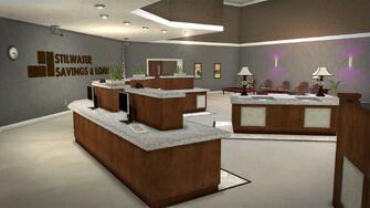 Stilwater Savings & Loan - interior counters