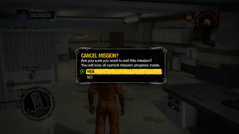 Cancel Mission prompt in Saints Row 2