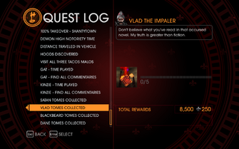 Gat out of Hell Challenge - Vlad Tomes Collected