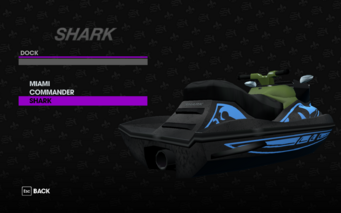 Shark in the Dock garage in Saints Row The Third