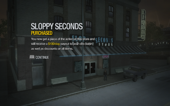 Sloppy Seconds in Encanto purchased in Saints Row 2
