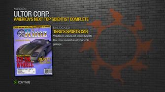 America's Next Top Scientist - rewards - Tera's Sports Car unlocked