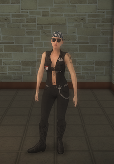 Biker female - white - character model in Saints Row 2