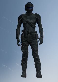 Playa - Saints team 6 female with helmet - unused character model in Saints Row IV