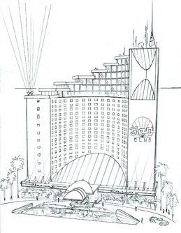 Poseidon's Palace Concept Art - Saints Row 2 exterior sketch