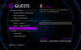 Quests Menu - Secret Admirer
