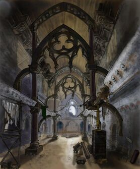 Saints Row Church - Interior Concept Art