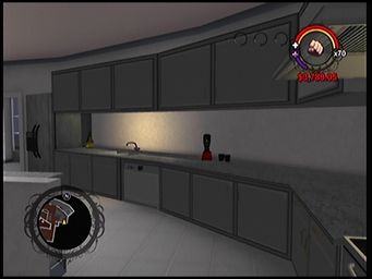 The kitchen in Anthony's condo in Saints Row