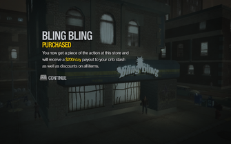Bling Bling in Shivington purchased in Saints Row 2