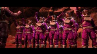 Gangstas in Space - Space Saints cheering