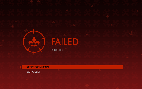 Gat out of Hell - Quest fail screen