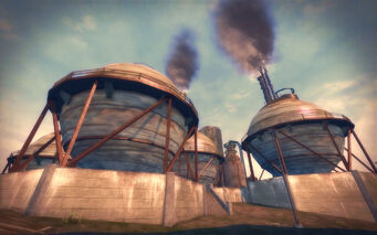 Pilsen in Saints Row 2 - refinery spheres