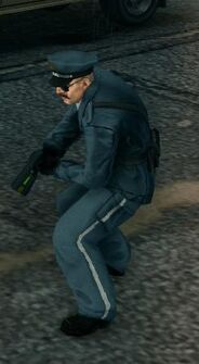 SR3 Police officer with Stun Gun