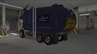 Saints Row variants - Stilwater Municipal - Garbage Truck - rear left