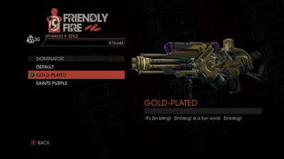 Weapon - Rifles - Alien Rifle - Dominator - Gold-Plated