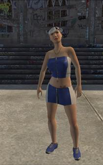 Westside Rollerz female Thug1-03 - white - character model in Saints Row