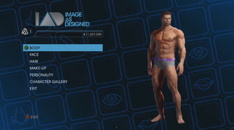 Image As Designed - Player Customization menu in Saints Row IV