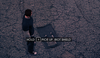 Riot Shield on the ground in Saints Row IV