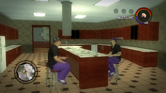 Saints Row Mega Condo - interior kitchen